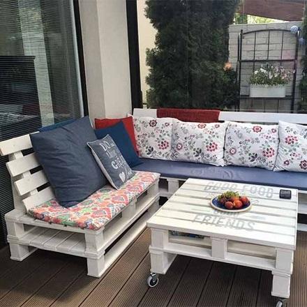 Мебель для гостиной из паллет